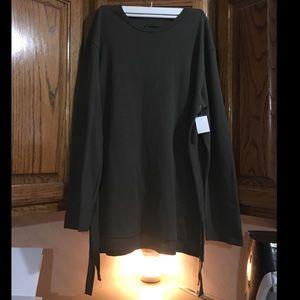 🌿NEW! Long Sleeve Army Green Long Shirt/Dress!